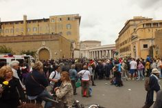 Waiting for the Pope! #pope #rome #italy #vatican