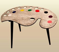 1950s Artist's Palette Coffee / Side Table on Atomic Splayed Legs.