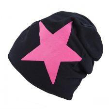 Musta pipo pinkillä tähdellä
