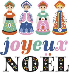 Fifi Mandirac / joyeux Noël / illustration / poupées russes