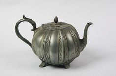 pewter teapot Imagine how heavy this would be when filled with tea!!!