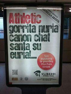 Athletic gorrita nuria... (sin euskera te pierdes muchas cosas)