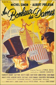 """Shop Girls of Paris (1943) """"Au bonheur des dames"""" (original title) Stars: Michel Simon, Albert Préjean, Blanchette Brunoy, Suzy Prim, Juliette Faber ~  Director: André Cayatte"""