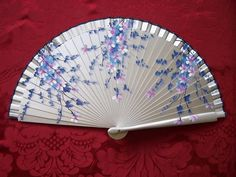 Pretty floral fan