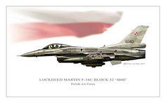 Lockheed Martin F-16 Fighting Falcon Poster featuring the digital art Polish Viper by Peter Van Stigt