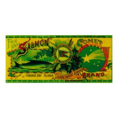 Comet Salmon Can LabelChignik Bay, AK Posters