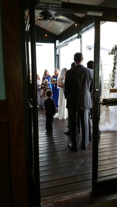 Ceremony on Patio Patio, House, Terrace, Porch, Haus, Home, Courtyards, Homes