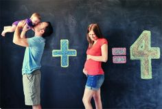 Cute photo idea for growing families