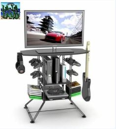 TV Stand Rack Furniture Video Game Console Storage Room Guitar Xbox ONE PS4 WII | eBay