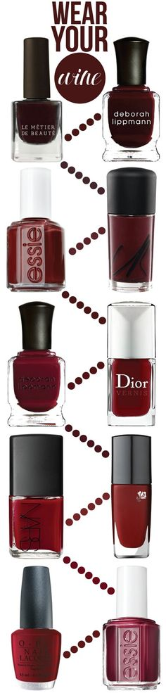 wear your wine: 10 nail shades for fall