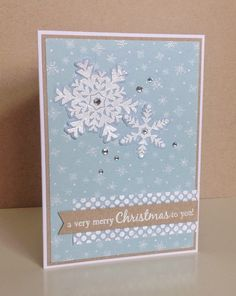 Beth's Little Card Blog: Snowflake card