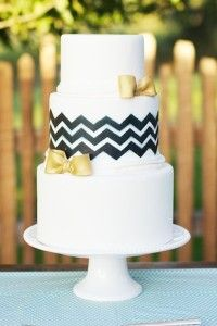 Chevron Bow Cake