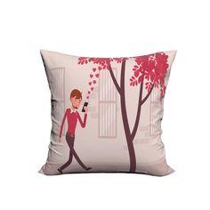 RUBIHOME Creative Decorative Cushion Cover Throw Pillowcase Polyester Plush Fabric Home Decor Girl City Fashion Love