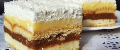 Recept Fenomenální zákusek SNĚHOVÁ KRÁLOVNA Cookie Desserts, Sweet Desserts, Sweet Recipes, Cake Recipes, Serbian Recipes, Czech Recipes, Macedonian Food, Ice Cream Recipes, Dessert Bars