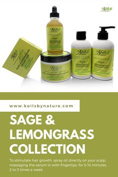 Moisturized hair is healthy hair. When your natural hair is dry, it's frustrating and feels like a problem you'll never solve. Our Sage & Lemongrass Collection offers the hydration your dehydrated curls need. We use water as the first ingredient infused with sage, known for its anti-inflammatory properties, removing impurities, healing the scalp, and stimulating hair growth. #conditioner #gel #nourishinghair #growthoil