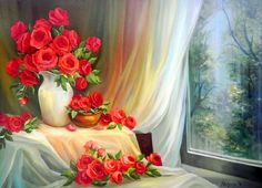 Paisajes con Flores Pintura Óleo Pintora Anca Bulgaru 2