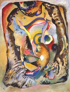 Lírico (Letras), óleo sobre lienzo de Wassily Kandinsky (1866-1944, Russia)
