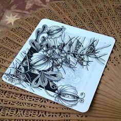 #lilystangles #lilymoon #zentangle #doodle #shading #draw #inkart