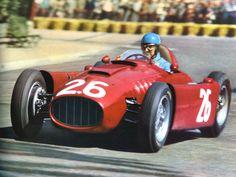 1955 MONACO GRAND PRIX - Lancia D50. Entrant: Scuderia Lancia. Driver: Alberto Ascari. Place: DNF.