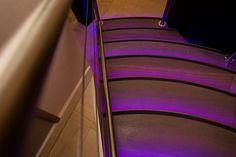 Escalier rétro-éclairé