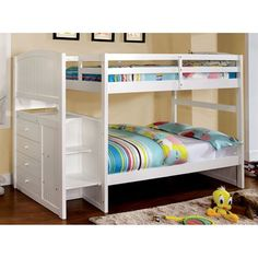 Furniture Of America Cm-bk922 Appenzell Bunk Bed