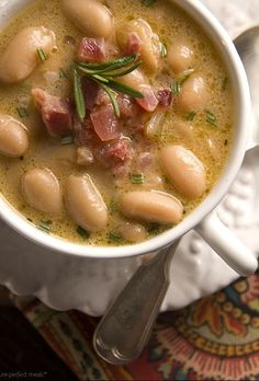 TUSCAN BEAN SOUP ~~ http://www.italianfoodforever.com/2008/05/tuscan-country-bean-soup/ + http://www.saveur.com/article/Recipes/Tuscan-Bean-Soup + http://www.seriouseats.com/recipes/2012/01/30-minute-tuscan-white-bean-soup-recipe.html + http://www.theclevercarrot.com/2014/10/tuscan-white-bean-soup-2-ways/ + http://hapanom.com/tuscan-bean-soup/ + http://pictureperfectmeals.com/tuscan-white-bean-soup-with-pancetta-and-rosemary/ [Italy, Regional Tuscany] [Nancy Harmon Jenkins]…