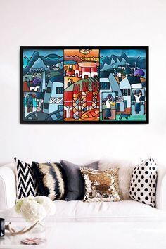 """Kaleidoscope"" Acrylic on canvas Mauritius, Photo Wall, Homes, Wall Art, Canvas, Create, Artist, Artwork, Stuff To Buy"