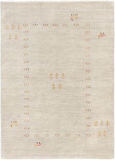 Hand-knotted Kashkuli Gabbeh Light Gray Wool Rug