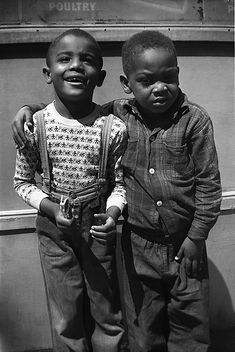 Vivian Maier, New York, Two Boys With Hand On Shoulder, 1955