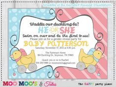 What the duck is it gender reveal party