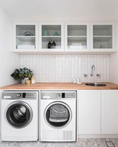 This beautiful stylish laundry will make you want to do the washing 10