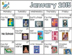 Daily Art - January Plans -