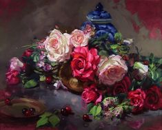 Floral Paintings by Kurt Anderson..   http://amolife.com/image/art-and-abstract/index.php