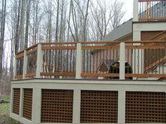 48 Best Deck Lattice Ideas Images Deck Decks Porches Deck