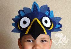 Rio Blue Macaw Bird Headpiece Children's by LockNessieCreations