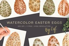 Easter Fabergé Eggs Graphics Watercolor Egg clipart PNG By By Lef