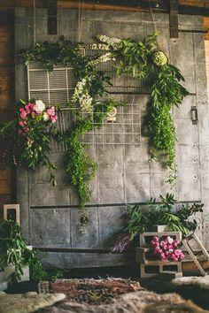 [ Industrial Woodland Wedding Inspiration Rustic Wedding Layer 0 ] - Best Free Home Design Idea & Inspiration Industrial Wedding Inspiration, Woodland Wedding Inspiration, Arco Floral, Floral Wedding, Wedding Flowers, Warehouse Wedding, Loft Wedding, Chic Wedding, Wedding Jewelry