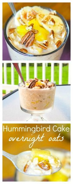 Hummingbird Cake Overnight Oats - This delicious, make-ahead breakfast recipe is super simple to make and is 21 Day Fix approved!