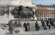 Le Paris de 1900 se Fond Dans le Présent