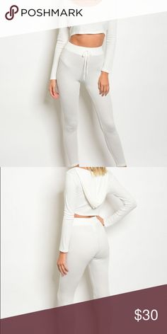 Angelic Lounge 2-piece All white, 2-piece set ! Throw some RIRI slippers on and call it a night Euphoricalshop Other