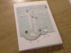 Happy birthday card birds