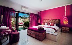Cute pink master bedroom decor