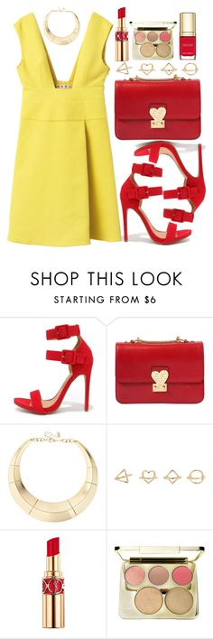"""""""Untitled #4241"""" by natalyasidunova ❤ liked on Polyvore featuring Shoe Republic LA, Valentino, ALDO, Charlotte Russe, Yves Saint Laurent and Dolce&Gabbana"""