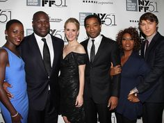 | NYFF | The whole cast (with director Steven McQueen) on the carpet at the New York Film Festival's screening of 12 YEARS A SLAVE