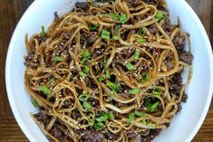 Mongolian Ground Beef Noodles - Jen Around the World Asian Recipes, New Recipes, Cooking Recipes, Healthy Recipes, Easy Recipes, Cheap Recipes, Asian Foods, Pork Recipes, Chicken Recipes