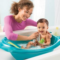 What's the best part of bath time, giggles from splashing or that clean baby smell?
