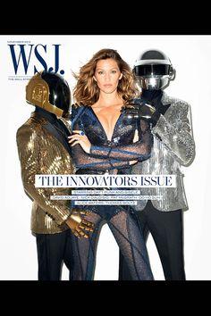 【スライドショー】ダフトパンク、スーパーモデルのジゼル・ブンチェンと写真撮影 - WSJ.com