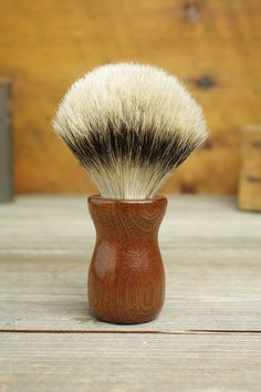 Sapele Truncheon style shaving brush with Silvertip Badger by Bare Knuckle Barbery