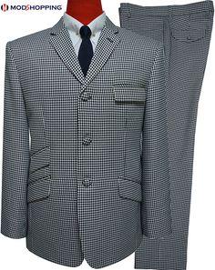tailored men mod fashion grey houndstooth suit for men,mens suit uk,business fuit for men,grey dogtooth suit, Brown Suits For Men, Linen Suits For Men, Beige Suits, Blue Suit Men, Mens Suits Uk, Mens Tweed Suit, Mod Suits, Slim Fit Suits, Tailored Suits