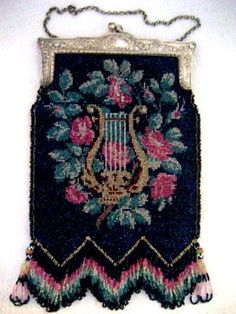 Google Image Result for http://www.antiquepeek.com/images/Purses/Beaded/Copy%20of%20Art_Nouveau_lyre_beaded_antique_purse1.JPG